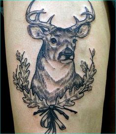 45 Inspiring Deer Tattoo Designs 45 Inspiring Deer Tattoo DesignsDeer tattoos are loved by people for many of their symbolic meanings carried by the soft and humble animal. Flower Thigh Tattoos, Forearm Tattoos, Hand Tattoos, Girl Tattoos, Tattoos For Guys, Tattoos For Women, Sleeve Tattoos, Tatoos, Elephant Tattoos