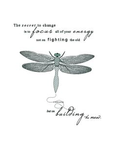 Printable Artwork Dragonfly illustration typography art print The ...
