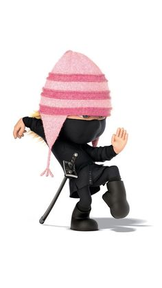 Dispicable me ninja Benjamin Bratt, Agnes Despicable Me, Minions Despicable Me, Steve Carell, Whatsapp Animation, Disney Movies, Disney Pixar, Miranda Cosgrove, Gifs Lindos