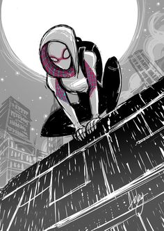 Spider-Gwen by Abigail Ryder. I really like her costume. Probably my favorite spider suit