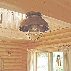 マウンテンロッジ 1灯シーリングライト ログハウスにおすすめ cottage style