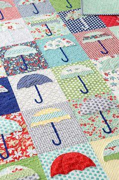 Raincheck quilt by croskelley, via Flickr