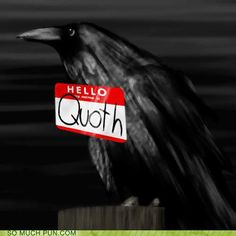 """""""Quoth"""" the Raven. NEVERMORE"""