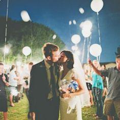 ballons leds pour un mariage