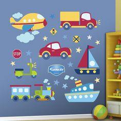 Vehicles Collection Decalques de parede
