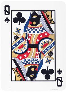 Derrick Adams, Game Changing (Queen) (2015). Photo: Print Center.