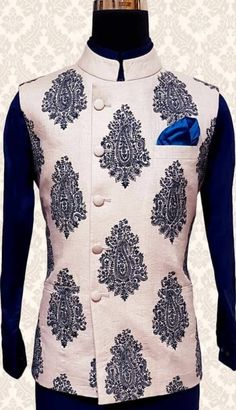 Wedding Outfits For Groom, Wedding Suits, Indian Men Fashion, Mens Fashion Suits, Indian Groom Dress, Indian Jackets, Custom Tailored Suits, Gents Kurta Design, Modi Jacket
