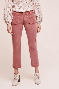 Seafarer Low-Rise Corded Crops - anthropologie.com