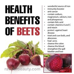 Beets are a very good source of dietary fiber