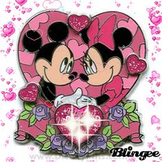 Happy Valentines Day Mickey and Minnie Mouse pin
