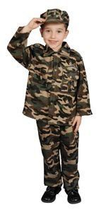 Pretend Military Deluxe Army Child Costume Dress-Up Set Size 4-6 by Dress Up America. $18.00. Design is stylish and innovative.. Satisfaction Ensured. 100% Flame Retardant Polyester. Functionality that is Unbeatable.. Army costume includes: Shirt, pants and cap. Machine Washable. Flame Retardant. Size 4-6.. Save 65%!