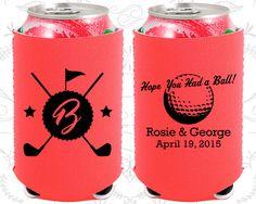 Hope you had a Ball, Neoprene Wedding, Golf Wedding, Sports Wedding, Golf Clubs, Neoprene Wedding Favors (325)