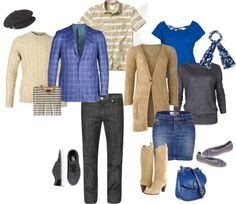 """""""Blue & Brown photo shoot"""" by petitemember on Polyvore"""
