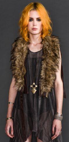 Womens - Vests - Apocalyptic Fur Vegi Leather Holster Vest $115.00