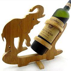 Un suport pentru sticla de vin cu elefant cadou sublim pentru orice barba