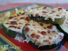 Baked Zucchini with Mozzarella.  Simple work night recipe.