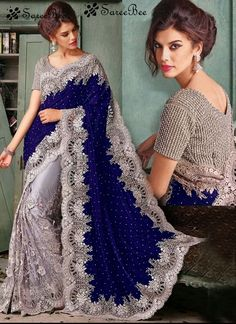 Blue Embroidered net and velvet saree with blouse.  For More Information WhatsApp 7202080091 Or Visit www.SareeBe.com  #red  #designer  #instagram  #kurti  #fashionista  #makeup  #delhi  #outfitoftheday  #women-fashion  #myfirststory  #model  #indian  #saree  #ramadanmubarak  #trendy  #ethnic  #picoftheday  #menonroposo  #roposolove  #cool  #firstpost  #soroposo  #summer-style  #streetstyle  #summer  #newdp  #beauty  #traveldiaries  #styles  #youtuber  #bestSeller