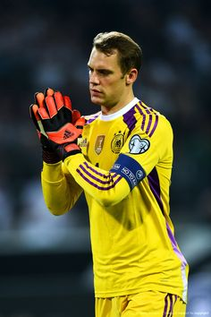 "photos-of-soccer: ""Manuel Neuer of Germany applauds the crowd during the EURO 2016 Group D qualifying match """
