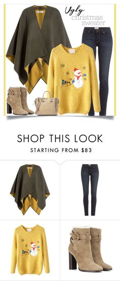 """""""Ugly Christmas Sweater"""" by tawnee-tnt ❤ liked on Polyvore featuring Burberry, Paige Denim, Steve Madden and uglychristmassweater"""