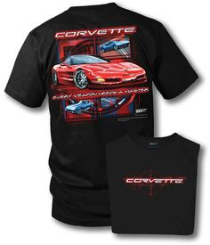 """Corvette - Every Weapon on a black large (L) new tee shirt : A red Corvette an """"every weapon needs a master"""" on a new large (L) black tee shirt. This is a 2 sided print with the Vettes on the back and on the front Corvette. One of a kind.  ..."""