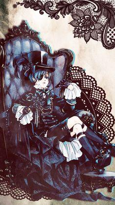 "fujiiwara: "" Ciel Phantomhive + Sebastian Michaelis Wallpapers: Requested by "" Black Butler Sebastian, Black Butler Ciel, Black Butler Kuroshitsuji, Ciel Anime, Manga Anime, Otaku Anime, Anime Art, Manga Girl, Anime Girls"