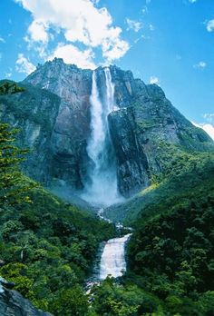 Angel Fall in Canaima National Park, Venezuela.