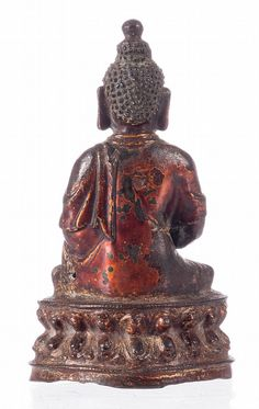 Buy online, view images and see past prices for A Chinese bronze seated Buddha, with traces of gilt and polychrome paint, Ming, H 18,5 cm. Invaluable is the world's largest marketplace for art, antiques, and collectibles.
