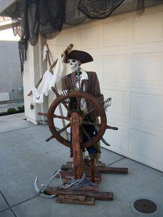Halloween Pirate Skeleton Helmsman