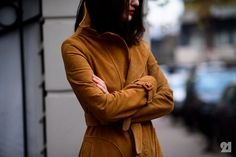 We love the suede trench coat