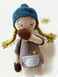 Amigurumi Doll, Crochet Doll, 16'' crochet soft toy, Stuffed toy,Cloth Doll, art…