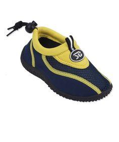 Look what I found on #zulily! Yellow & Navy Water Shoe #zulilyfinds