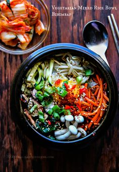 Vegetarian Mixed Rice Bowl-Bibimbap