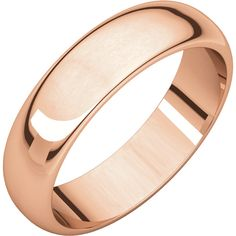 14kt Rose Gold 5mm Half Round Band(Available Sizes 1mm To 12mm) STHR7:63628:P ! Price: $199.99 #14kt #Gold #band #weddingband #Rosegold #rose