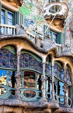 Designed by Gaudi. Barcelona, Spain. Saw this beautiful work of art only solo trip to Spain. Let me go back please.