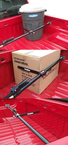 A necessity when it comes to truck bed accessories - a cargo stabilizer bar and load support! Compatible with Ford trucks. A great idea for cargo control in the truck bed for handy man and woman. - Tap The Link Now To Find Gadgets for your Awesome Ride Pick Up, Truck Bed Accessories, Camping Accessories, Ford F150 Accessories, Toyota Tundra Accessories, Accessoires 4x4, T6 California, Truck Storage, Truck Mods