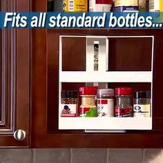 Medicine Organization, Kitchen Organisation, Kitchen Cabinet Storage, Home Organization Hacks, Cupboard, Storage Shelves, Storage Rack, Kitchen Cabinets, Diy Kitchen