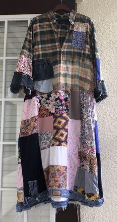 Ожили и ремнем винтажный стиль пэчворк и джинсовая макси Duster и платье негабаритных | Одежда, обувь и аксессуары, Одежда для женщин, Платья | eBay!