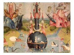Allegory of Luxury from the Central Panel of The Garden of Earthly Delights Giclee Print by Hieronymous Bosch at Art.com  want so badly