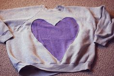 Heart Sweatshirt DIY from A is for Ampersand