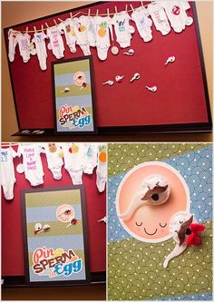 Baby Shower Pin The Sperm On The Egg Game