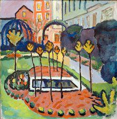 August Macke 1912 ♥ Inspirations, Idées & Suggestions, JesuisauJardin.fr, Atelier de paysage Paris, Stéphane Vimond Créateur de jardins ♥