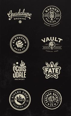 Brewery Logos by Jared Jacob of Sunday Lounge
