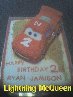 Lightning McQueen 3D cake