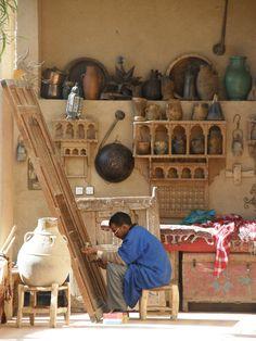 Souk in Rissani, Sahara Morocco