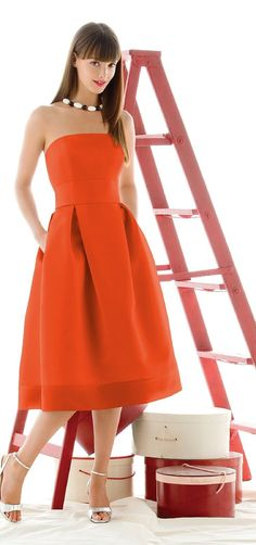 #Adorable orange dress!  orange dress maybe with a champagne sash like your dress