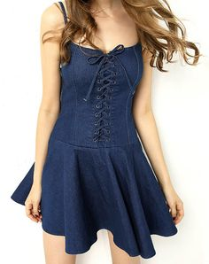 Denim Summer Dress Sexy