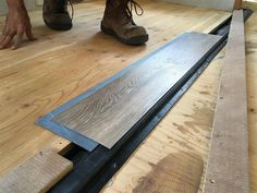 Picture Installing Laminate Flooring, Vinyl Plank Flooring, Vinyl Planks, Diy Camper, Camper Steps, Camper Storage, Camper Hacks, Rv Campers, Trailer Decor