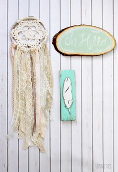Crochet and Lace Dreamcatcher