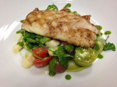 Mmm... Nothing says good afternoon like our Florida snapper, joined by fresh veggies in a creamy basil sauce. #FSTaste