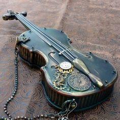 gothic violin  | Steampunk Gothic Lolita Violin Purse Pirate Victorian style M08